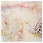 """Capricorn's Goat Triptych 132"""" x 40"""" o/c 2010"""