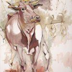 """Divine Cow o/c 46""""x 52"""""""